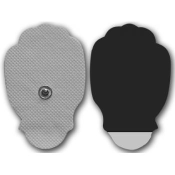 Стандартные кнопочные электроды-лапки 45x65 мм, на тканевой основе (пара)